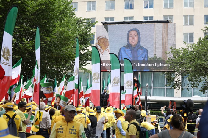2- Iran Solidarity March 2019 - President Elect. Maryam Rajavi Speaking in Solidarity with Iranian People - June 21, 2019 - Washington DC across