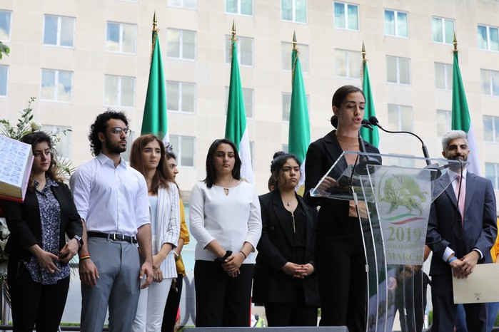 4- Iran Solidarity March 2019 - Youth Rep. Speaking - Iranian March with Iranian People - June 21, 2019 - Washington DC across DOS