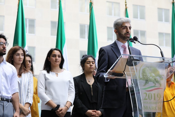 4- Iran Solidarity March 2019 - Youth Rep. Speaking - Iranian March with Iranian People for Regime Change - June 21, 2019 - Washington DC across DOS
