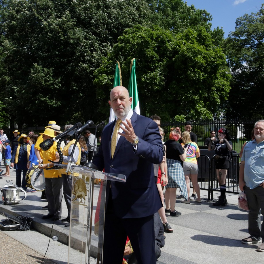8- Iran Solidarity March 2019 - Amb. Adam Ereli Speaking in front the White House June 21, 2019(47)